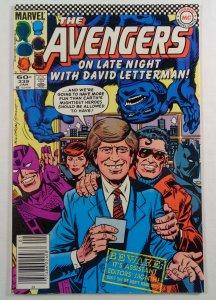 Avengers #239 VF/NM David Letterman Front/Back Cover Photos Marvel 1984