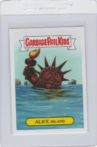 Garbage Pail Kids Alice Island 10a GPK 2017 Adam Geddon trading card sticker
