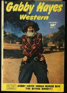 GABBY HAYES WESTERN #12-1949-FAWCETT VG+