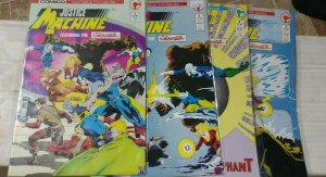 justice machine FEATURING THE ELEMENTALS MINI SERIES 1 2 3 4 1986 COMICO