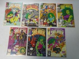 Sensational She-Hulk lot 21 different from #1-46 avg 8.5 VF+ (1989-92 1st Series