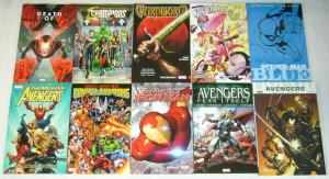 Lot of (10) Marvel TPBs - avengers - spider-man blue - iron man - (value: $173)