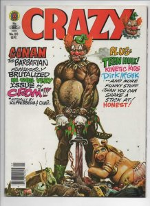 CRAZY #90 Magazine, FN+, Conan the Barbarian, Teen Hulk, 1973 1982,more in store