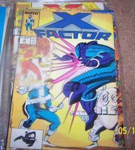 X FACTOR # 40 MARVEL 1989 original x men team -ORPHAN MAKER