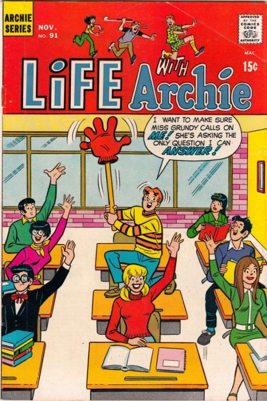 Life with Archie #91 (Nov-69) VF High-Grade Archie, Jughead, Betty, Veronica,...