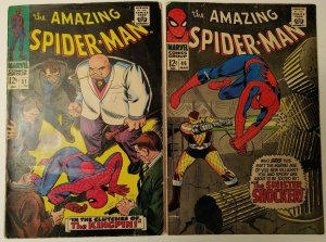 Amazing Spiderman #46 & #51 vol 1! 1st Shocker & 2nd Kingpin appearances!!