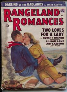 Rangeland Romances 5/1948-Popular-Robert Turner-Art Lawson-lip lock cover-FN