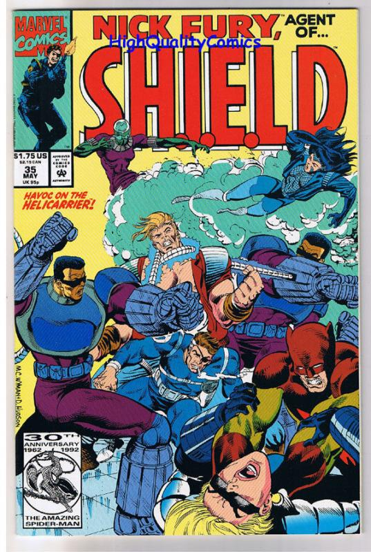 NICK FURY Agend of SHIELD #35, NM+, Eyepatch, Cigar, 1989, more in store