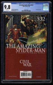 Amazing Spider-Man #532 CGC NM/M 9.8 White Pages