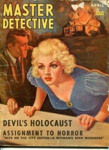 MASTER DETECTIVE-APRIL 1941-FR/G-MCCOWEN COVER-MURDER-ARSON-MASSACRE FR/G