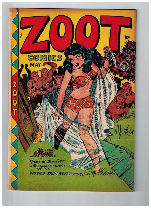 ZOOT # 14 VF/NM 1948 Golden Age Comic Book Fox Features Syndicate Rulah JJ1