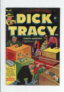 DICK TRACY #44 FN  - JOE SIMON COVER - VERY RARE GOLDEN AGE ISSUE - 1951