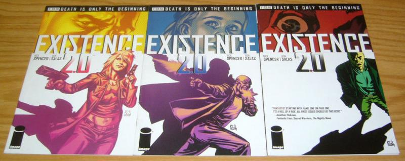 Existence 2.0 #1-3 VF complete series NICK SPENCER image comics 2009 set 2 lot