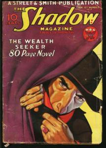 SHADOW 1934 JAN 15-STREET AND SMITH PULP-RARE G