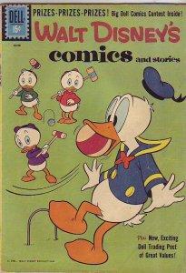 Comics and Stories, Walt Disney's #249 (Jun-61) FN- Mid-Grade Donald Duck, Hu...