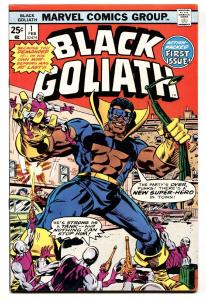 Black Goliath #1 1976-TUSKA ART 1st Issue African American Superhero VF-