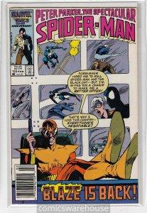 SPECTACULAR SPIDER-MAN (1976 MARVEL) #123 FN+ A14628