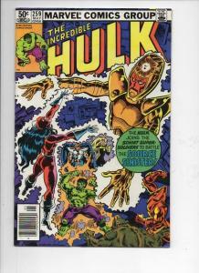 HULK #259, VF, Incredible, Bruce Banner, Super Soviet, 1968 1981, Marvel, UPC