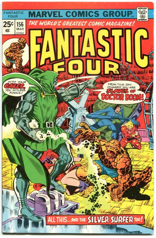 FANTASTIC FOUR #156, VF, Silver Surfer, Dr Doom, 1961, more FF in store, QXT
