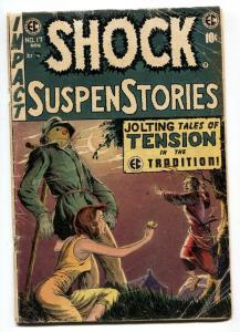 SHOCK SUSPENSTORIES #17-1954-EC-CRIME-HORROR-EVANS-KAMEN-CRANDALL-g/vg