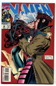 X-Men #24  Classic cover 1993- Rogue and Gambit kiss vf/nm
