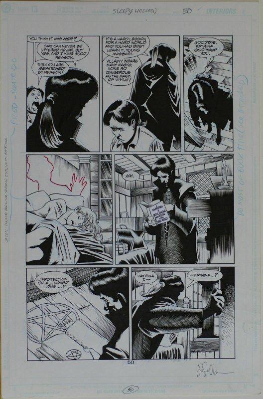 KELLEY JONES / JASON MOORE original art, SLEEPY HOLLOW pg 50, 11x17, 2000