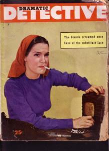 DRAMATIC DETECTIVE 1945 DEC #2 GUN MOLL PHOTO COVER FR