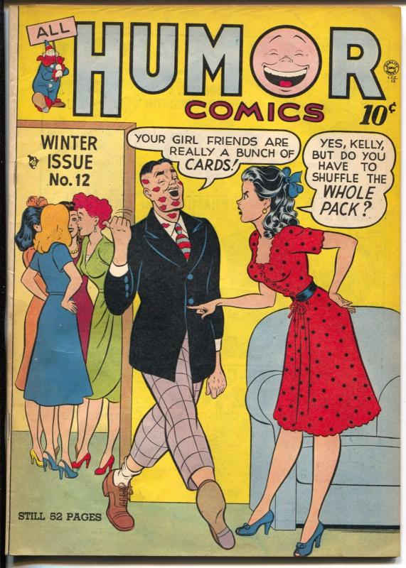 All Humor #12 1948-Quality-spicy Good Girl Art-long overlooked issue-FN+
