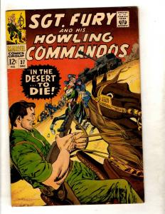 Sgt. Fury & His Howling Commandos # 37 VF Marvel Silver Age Comic Book JF11