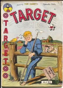 Target Vol. 4 #6 1943-Basil Wolverton-WWII-Targeteers-Chameleon-Cadet-VG+