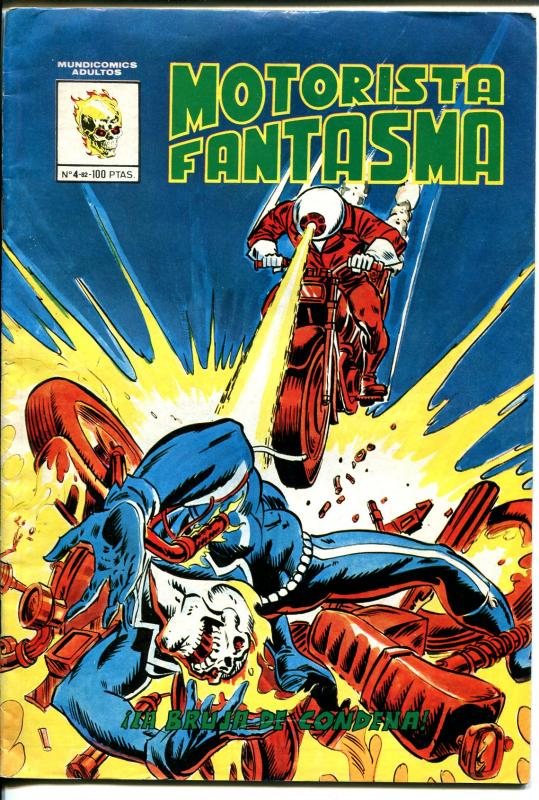 Motorista Fantasma #4 1981-motorcycle cover-Ghost Rider stories-VG+