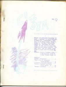 Cinder #9 1962-dittozine-top 10 fanzines-Bhob Stewart best fan cartoonist-VG/FN