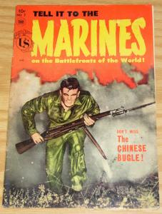 Tell it to the Marines #7 VG- may 1954 - golden age toby press war comic