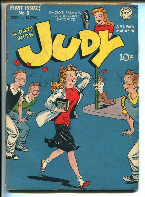 DATE WITH JUDY #1 1947-DC COMICS-1ST ISSUE-NBC RADIO PROGRAM-ELUSIVE-fn