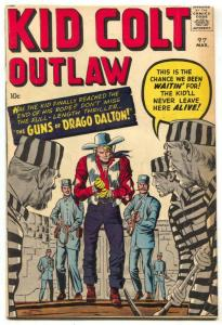 Kid Colt Outlaw #97 1961-Marvel Western-Jack Kirby cover- VG/F