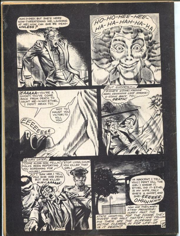 Weird #12 1966-Eerie-Frankenstein strangulation cover-vampire-terror-FN