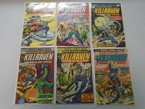 Amazing Adventures run #29-34 featuring Killraven 6 different avg 6.0 FN (1975)
