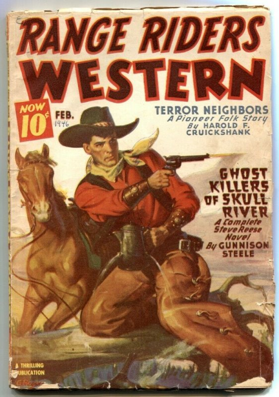 Range Riders Western Pulp February 1946- Ghost Killers of Skull River