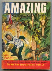 Amazing Stories June 1953- Man From Saturn- women hanging from trees