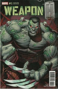 WEAPON H #1 HULK HOMAGE COVER