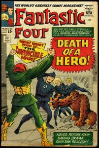 FANTASTIC FOUR #32-INVINCIBLE MAN JACK KIRBY ART-1964 VG