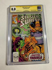 Silver Surfer #44 - 1st Infinity Gauntlet - CGC 8.0 SS Signed by Jim Starlin