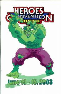 Heroes Convention Program Book 2003-Hulk-event schedule-FN/VF