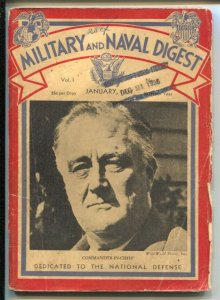 Military  and Naval Digest #1 1/1937-1st issue-FDR cover-Japanese Army's Aims...