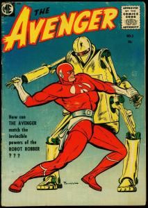 The Avenger #3 1955- Robot cover- Bob Powell- VG