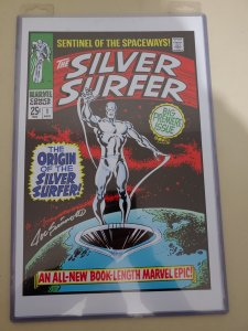 SILVER SURFER #1 PRINT SIGNED BY JOE SINNOT W/COA