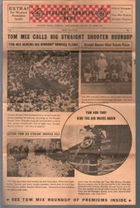 Tom Mix Ralston Straight Shooter News #1 1937-premiums-pix-info-VG