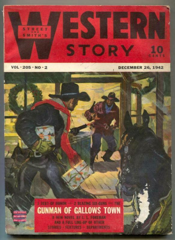 Western Story Pulp December 26 1942- Gunman of Gallows Town G