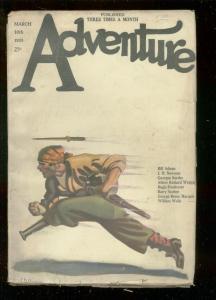 ADVENTURE PULP-MAR 10 1923-PEG LEG PIRATE COVER-SURDEZ-very good VG