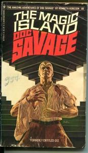 DOC SAVAGE-THE MAGIC ISLAND-#89-ROBESON-G/VG-BOB LARKIN COVER-1ST EDTION G/VG
